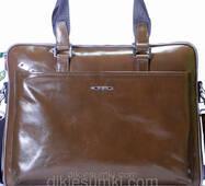 Мужская сумка портфель Kabinias кожа цвета хаки