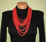 ожерелье кораловое