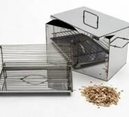 Коптильня гарячого копчення без гідрозатвори нержавіючої сталі