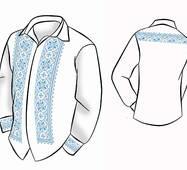 Заготовка для вишивки  чоловічих сорочок ВЧ -46