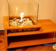 Журнальный столик камин LKMU- КС800