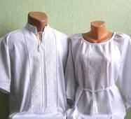 Парные вышиванки белые