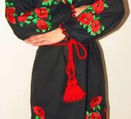 Вышиванка -платье женское Маки