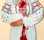 Вышиванка женская, орнамент, большой размер