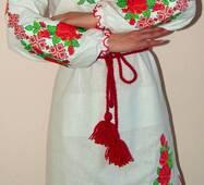 Вышиванка- платье женское Розы