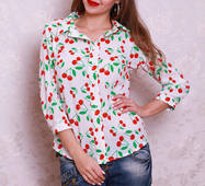 Молодіжна сорочка з вишеньками