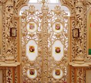 Деревянный иконостас (Царские врата)
