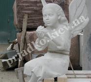 Гипсовая модель ангела для памятника