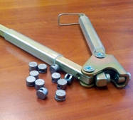 Пломбіратор з гравіюванням діаметром 10 мм, білий