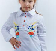 """Вышитая рубашка для девочки """"Полевые цветы"""""""