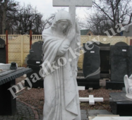 Скульптура Божої Матері з білого мармуру