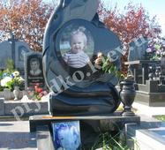 Авторський пам'ятник для дівчинки з чорного габро (на могилу)