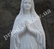 Скульптура Богородиці з білого бетону