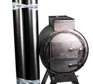 """Печь БУРЖУЙКА з трубами (3 шт. 1,0 мм), лінія """"ТУРИЗМ"""""""