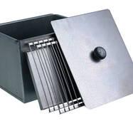 """Коптильня для гарячого копчення двох'ярусна з чорної сталі, лінія """"ТУРИЗМ"""""""
