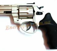 Револьвер флобера Trooper 3,0S силумин хром черная пласт.ручка