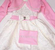 Стильна сукня з болеро для дівчинки