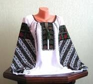 Вишита сорочка жіноча ручної роботи з багатим борщівським взором