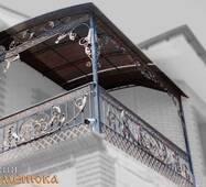 Балконное ограждение с навесом №112