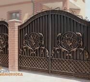 Ворота кованые с калиткой №97