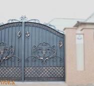 Кованые ворота с калиткой №74