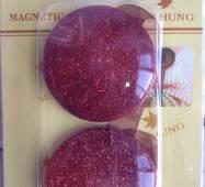 Магнит-пуговица бордовый