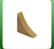 Фурнитура плинтуса для столешниц IDEAL PST-25. Заглушка торцевая левая, Белый