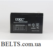 UKC 12v 9a акумулятор (батарея акумуляторна УКС 12 вольт 9 Ампер)