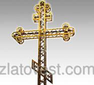 Кресты христианские из нержавеющей стали с напылением нитрид титана под золото