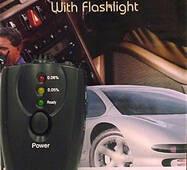Алкотестер брелок з ліхтариком Alcohol Tester