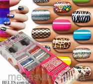 Набор Fab Foils для дизайну нігтів, набір для манікюру і педикюру Фэб Фоилс
