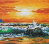 """3D-интерьерная  панорама """"Волны-2"""""""