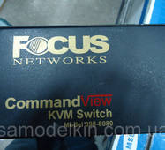 KVM Консоль FOCUS CommandView KVM switch 098-8080, без бп и кабелей.