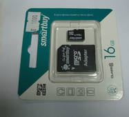 Карта памяти SmartBuy microSDHC Class 10 16GB + SD