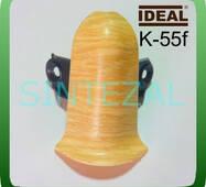 Фурнітура для плінтуса IDEAL K - 55. Зовнішній кут (краб-замок), Дуб попелястий