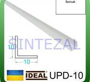 Декоративный пластиковый уголок IDEAL, L-2,7 м. 10 х 10, Белый