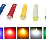 Авто лампа LED T5 T10 4 цвета Подсветка приборов