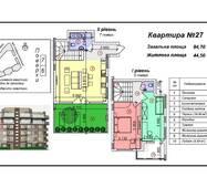 """Четырёхкомнатная квартира 27, (95 кв. м) в ЖК """"Green-Land"""", купить в Ужгороде"""