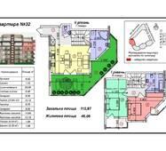 """Четырёхкомнатная квартира 32, (111 кв. м) в ЖК """"Green-Land"""", купить в Ужгороде"""