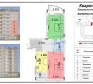 """Двухкомнатная квартира 3 (72 кв. м) в ЖК """"Сакура"""", секция №3, купить в Ужгороде"""