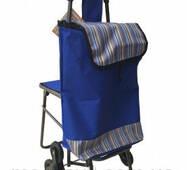 Сумка на колесах з доладним стільцем