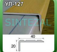 """Угловой лестничный порог 20х40 мм. (декор """"под дерево""""). 0,9 м., Вишня"""