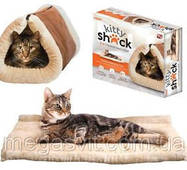 Унікальний лежак - ліжко для кішки Kitty Shack 2 in 1 (будиночок підстилка для тваринних Китті Шак)