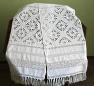Рушник свадебный белым по белому