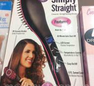 Расческа выпрямитель для волос Ceramic Straightening Brush (керамический утюжок для волос)