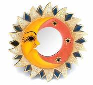 "Зеркало мозаичное ""Солнце и Луна"" (d-20,5 cм)"
