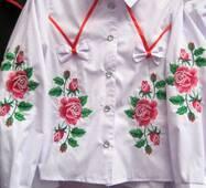 Вышитая рубашка для девочки