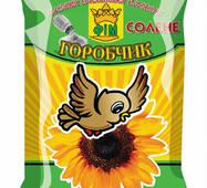 Семечки подсолнуха жареные соленые в упаковке ТМ Горобчик ФІМ, 60 г