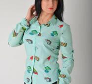 Жіноча стильна сорочка 1153