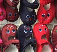 Дитячі тапочки червоні зайчики